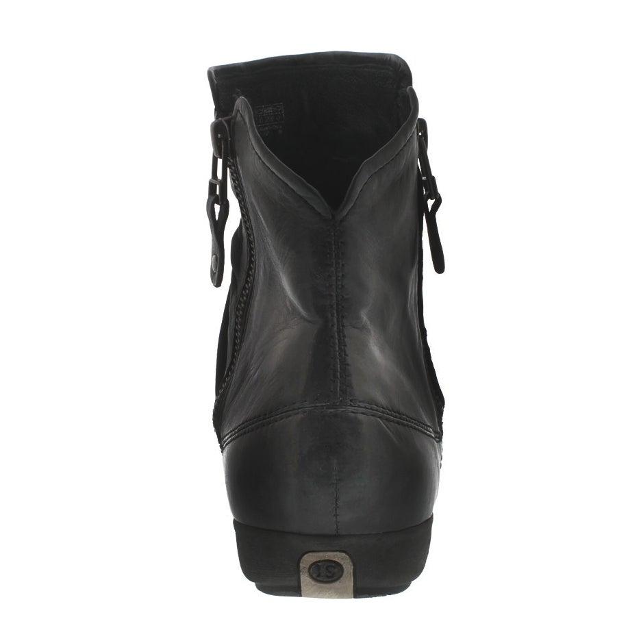 Bottine Faye 05, cuir noir, femmes