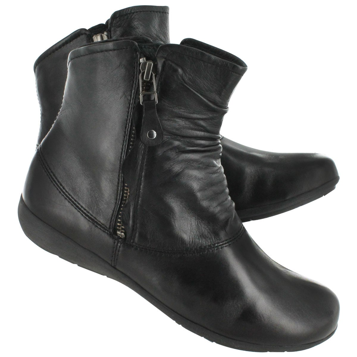Lds Faye 05 blk lthr casual bootie