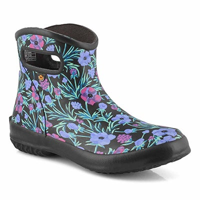 Lds Patch Vine Floral bk/mlt lo rainboot
