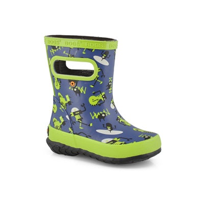 Inf-b Skipper Robots navy/mlti rainboot