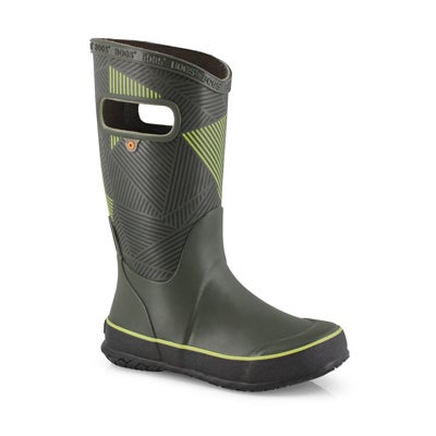 Bys Rainboot Big Geo grn mlti rain boot