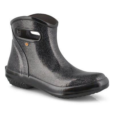Lds Rainboot Glitter black lo rainboot