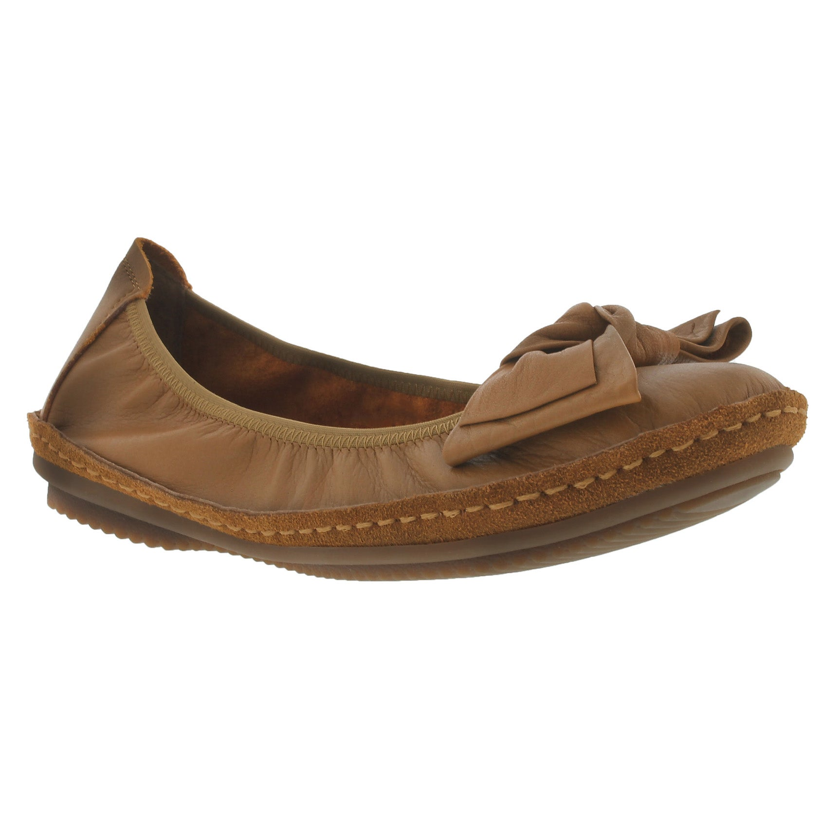 Women's PIPPA 01 cognac leather flats