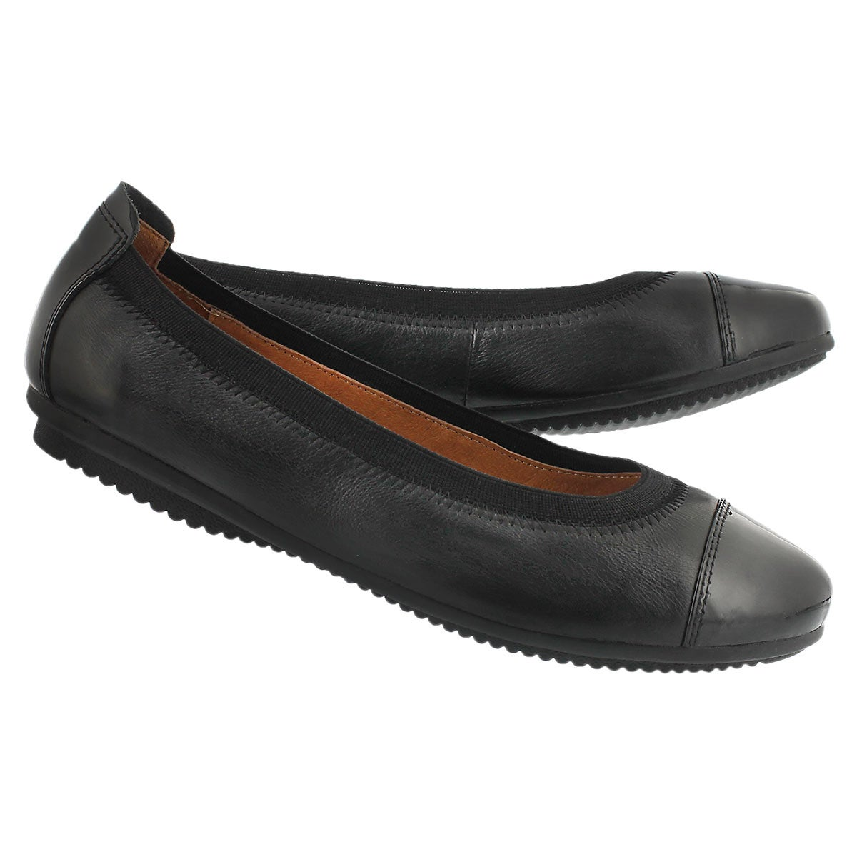 Ballerine Pippa 07, cuir noir, femmes