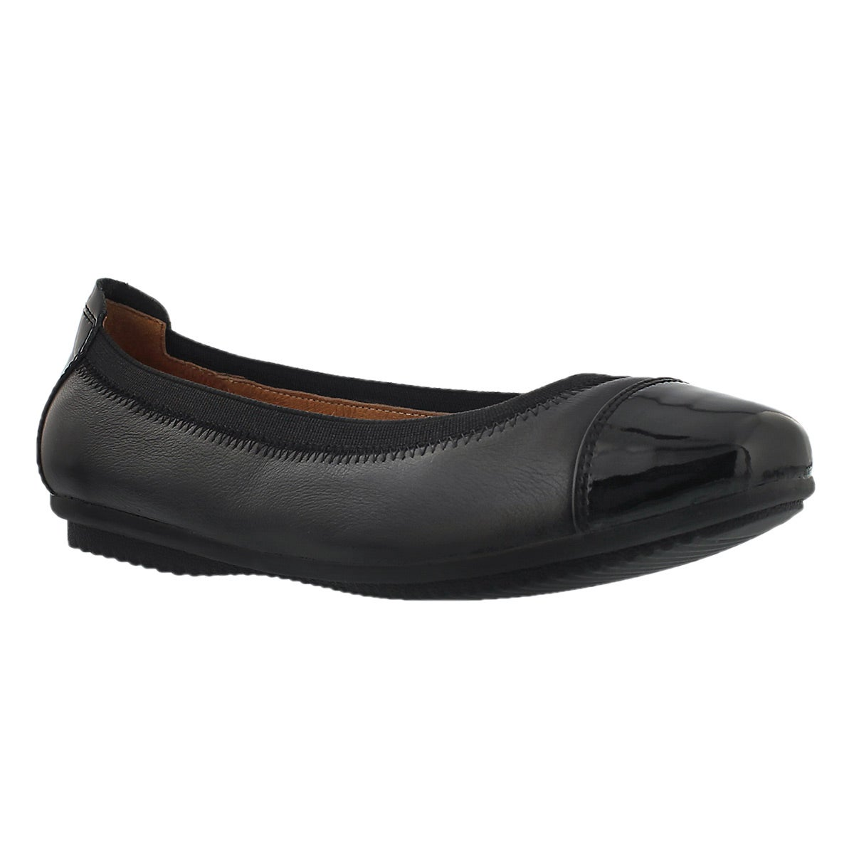 Women's PIPPA 07 leather black ballerina flats