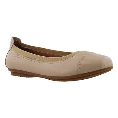Lds Pippa 07 beige ballerina flat