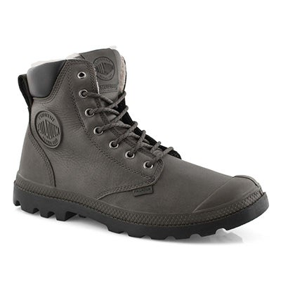 Mns PampaSportCuff drk gry wp lined boot