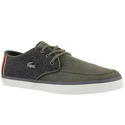 Lacoste Men's SEVRIN 316 3 khaki casual sneakers