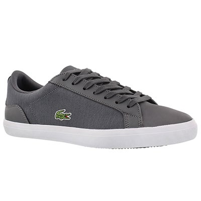 Lacoste Men's LEROND 316 dark grey lace up sneakers