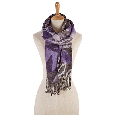 Lds Branches & Berries black scarf