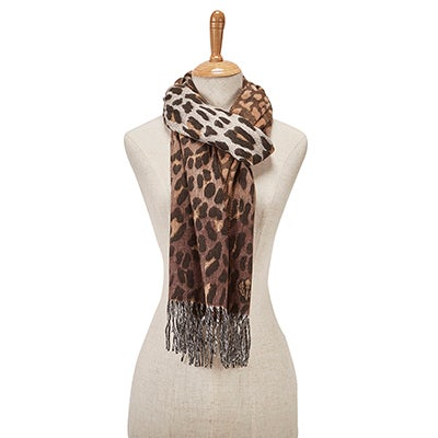 Lds Ombre Leopard chocolate scarf