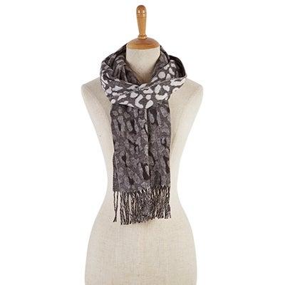 Lds Ombre Leopard black scarf