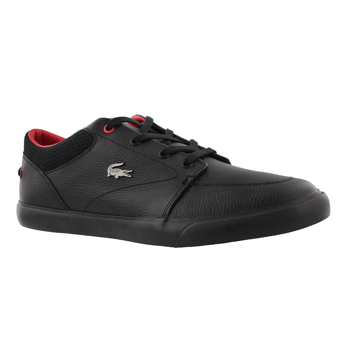 lacoste mens bayliss vulc 317 blackred snea softmoccom