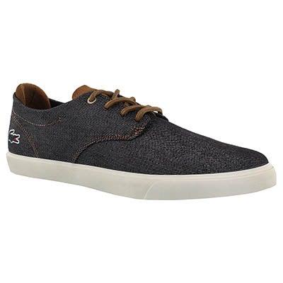 Mns Espere317 blk/dk brn lace up sneaker