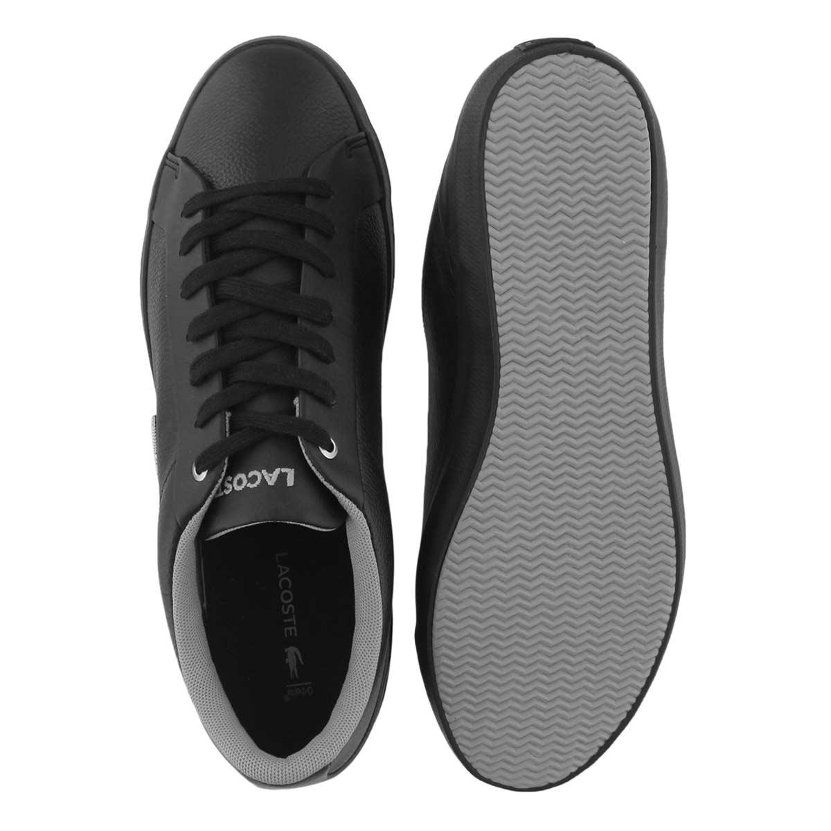 Mns Lerond 118 blk/gry lace up sneaker