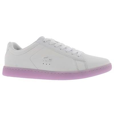 Lds Carnaby EVO 118 3 wht/lt pur sneaker