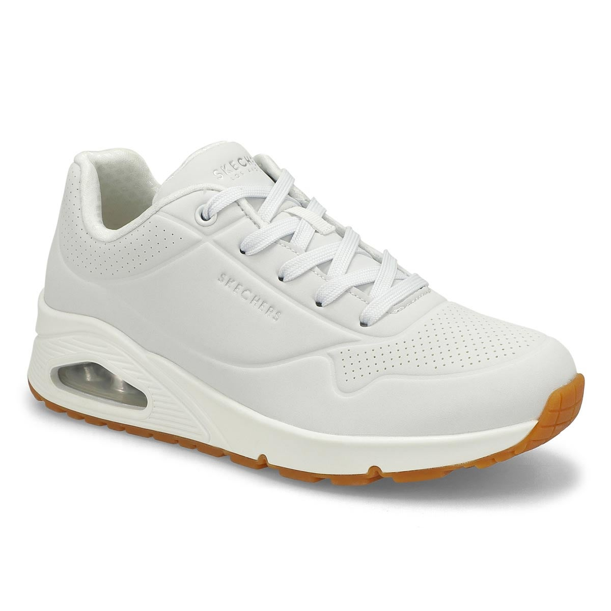 WHITE SKECHERS femmes Uno Stand On Air