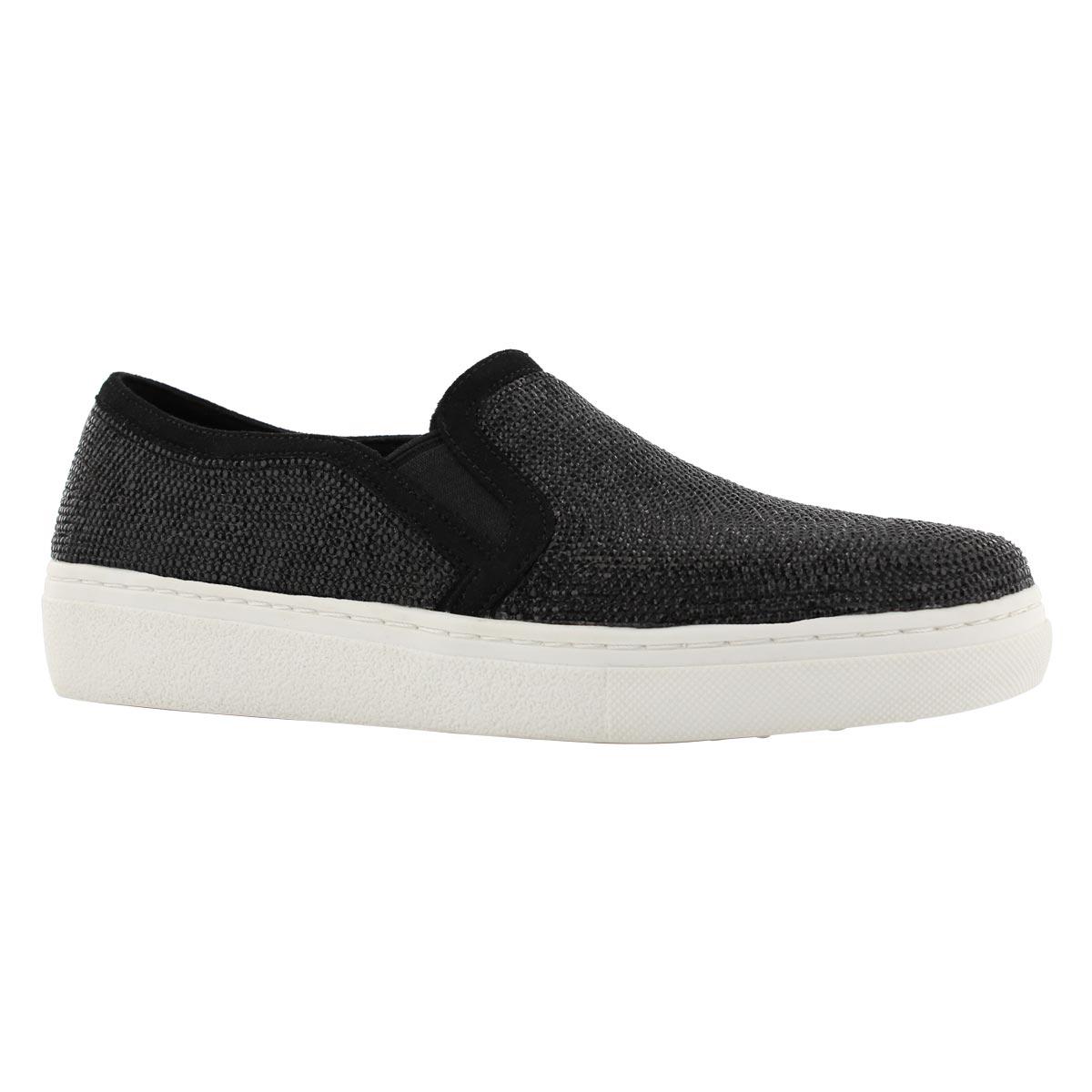 Lds Goldie Flashow blk slip on shoe