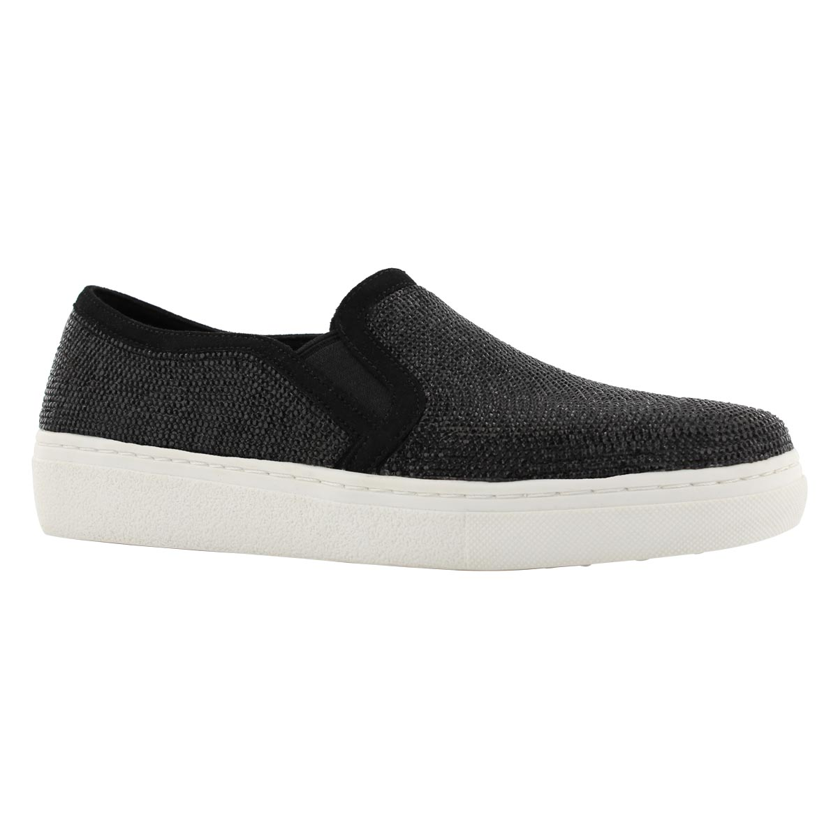 Lds Goldie black slip on shoe