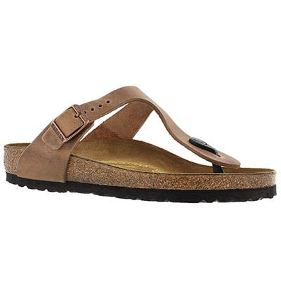 Birkenstock Women's GIZEH antique brown thong sandals