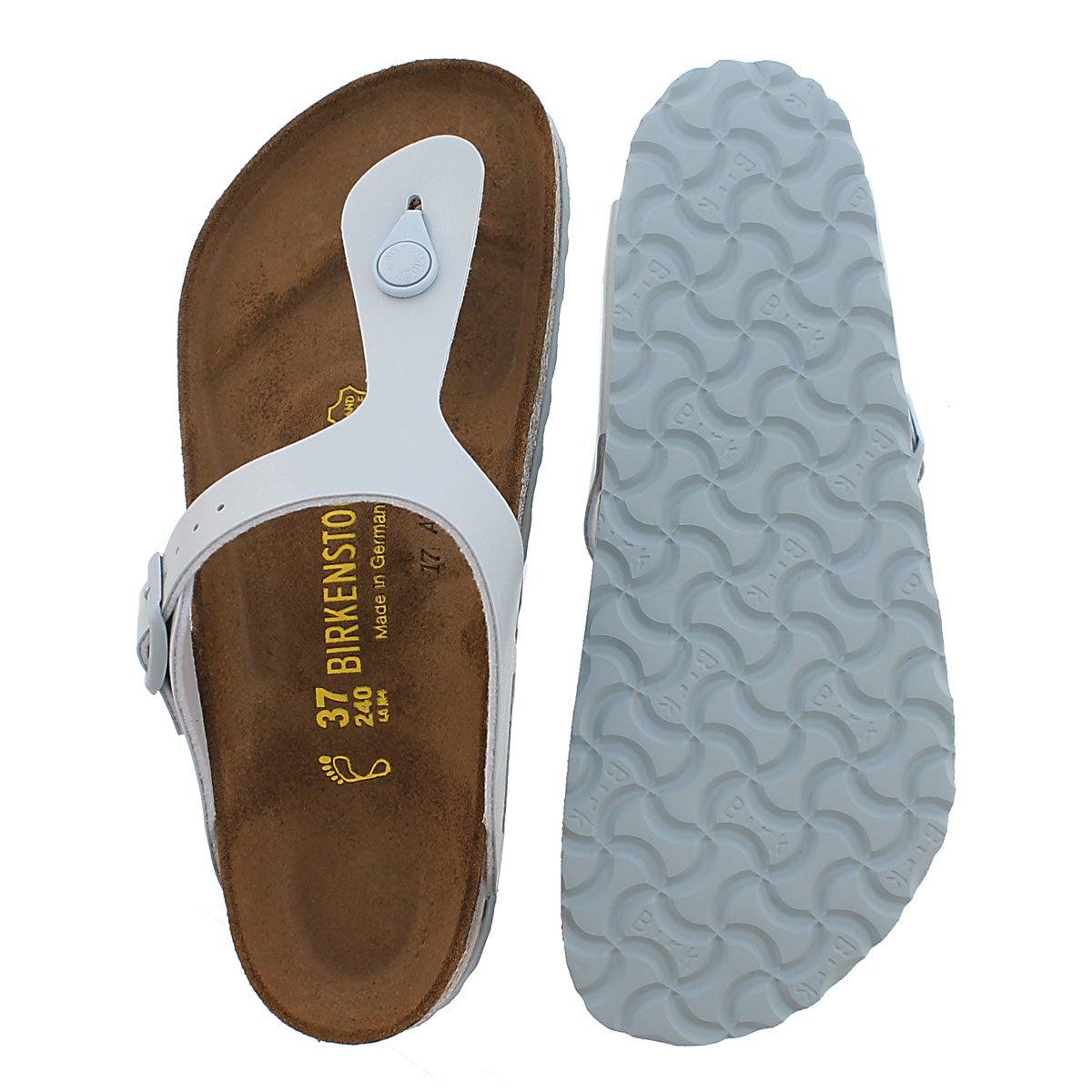 Lds Gizeh baby blue thong sandal