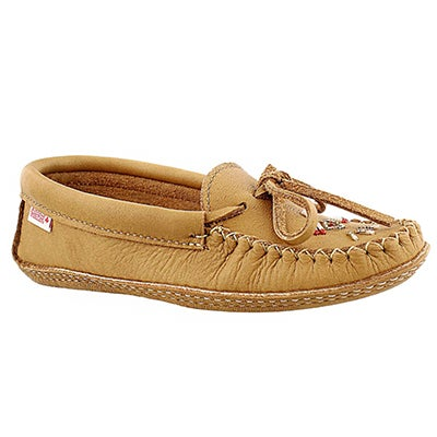 SoftMoc Women's 7463 tan double sole beaded moccasins