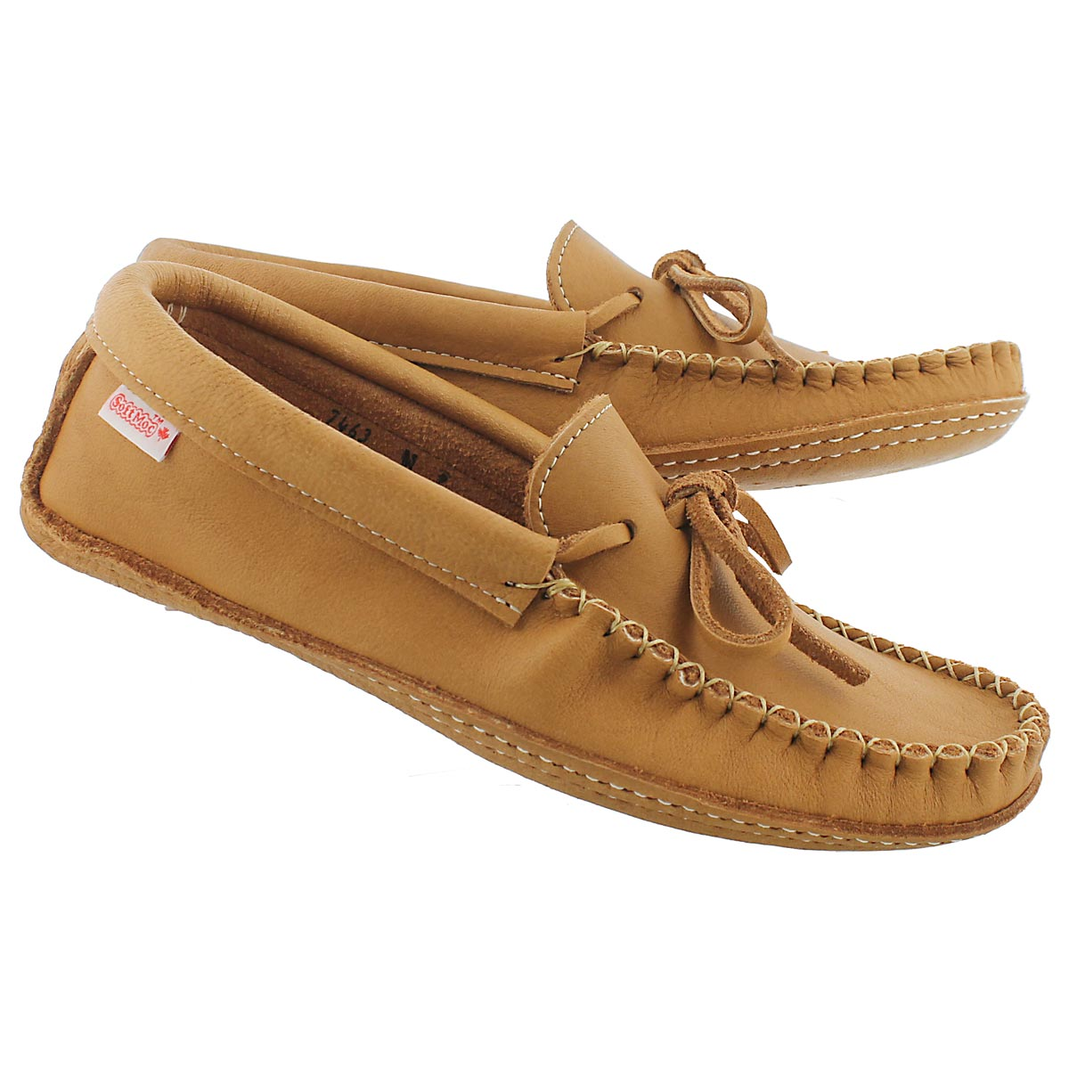 Mns cork double sole lined moccasin