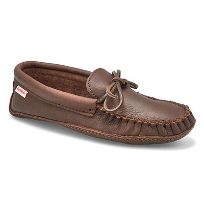 SoftMoc Men's 7463M double sole fudge moose hide moccasins