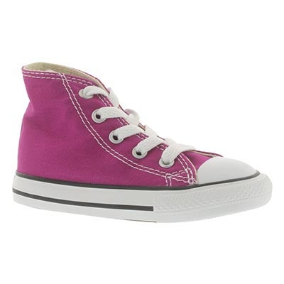 Inf All Star pink canvas high cut