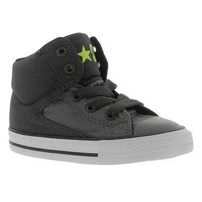 Inf High Street blk/yllw hi top sneaker
