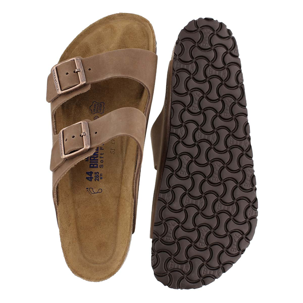 Mns Arizona cocoa 2 strap sandal SF