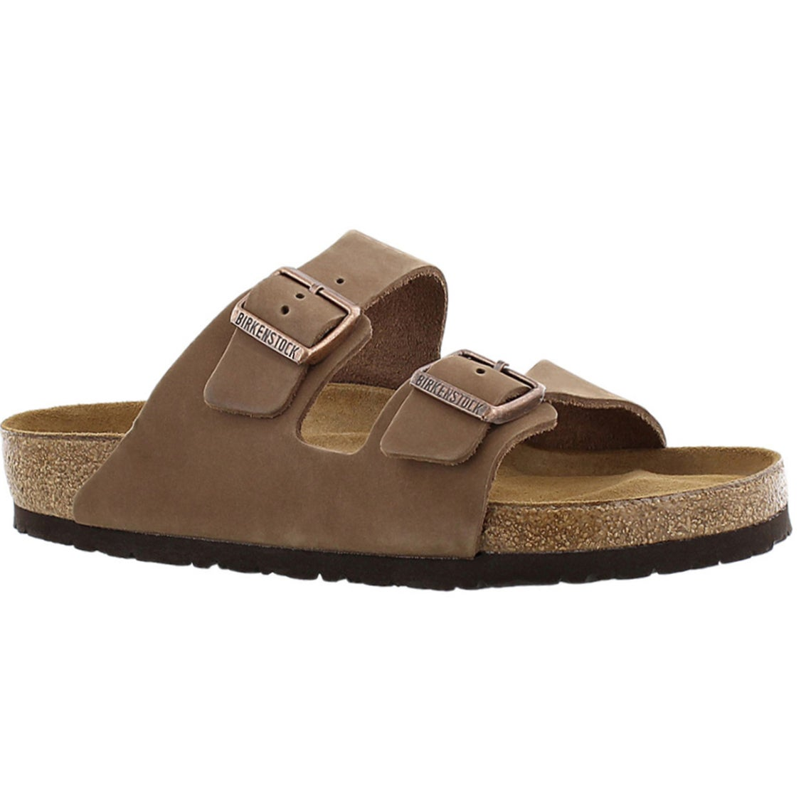 Men's ARIZONA soft footbed cocoa 2 strap sandals
