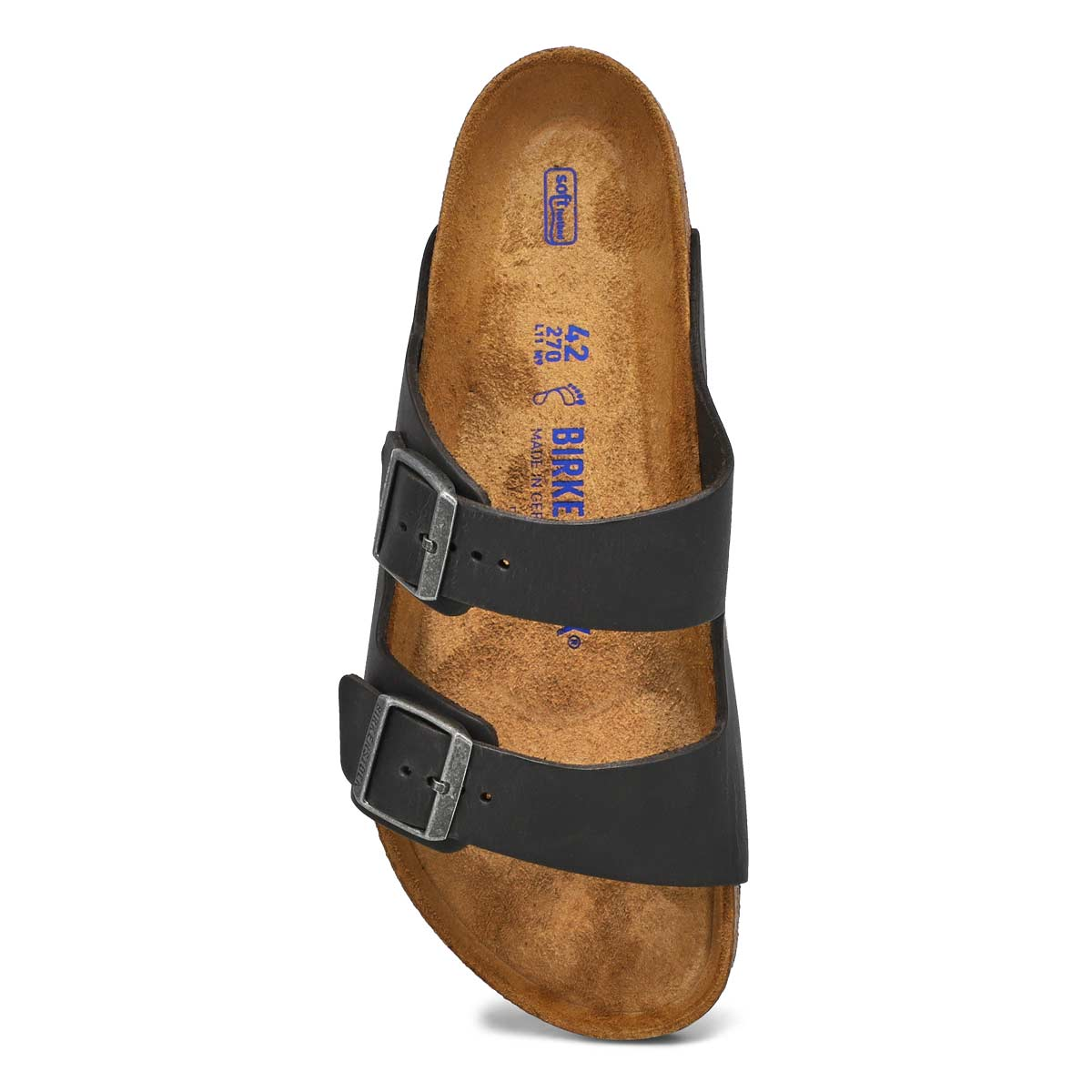 Mns Arizona black 2 strap sandal SF
