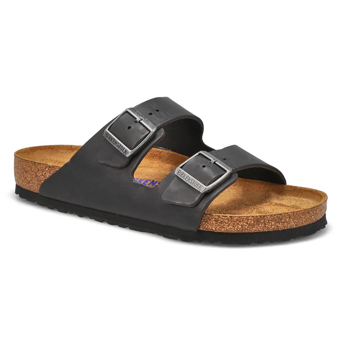 Men's Arizona Sf Black 2 Strap Sandals by Birkenstock