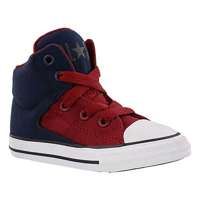 Converse Infants' HIGH STREET HI obsidian/red sneakers