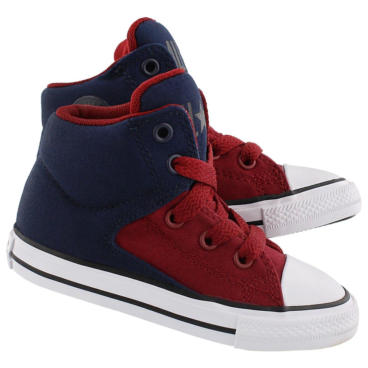 Infs HighStreetHi obsidian/red sneaker