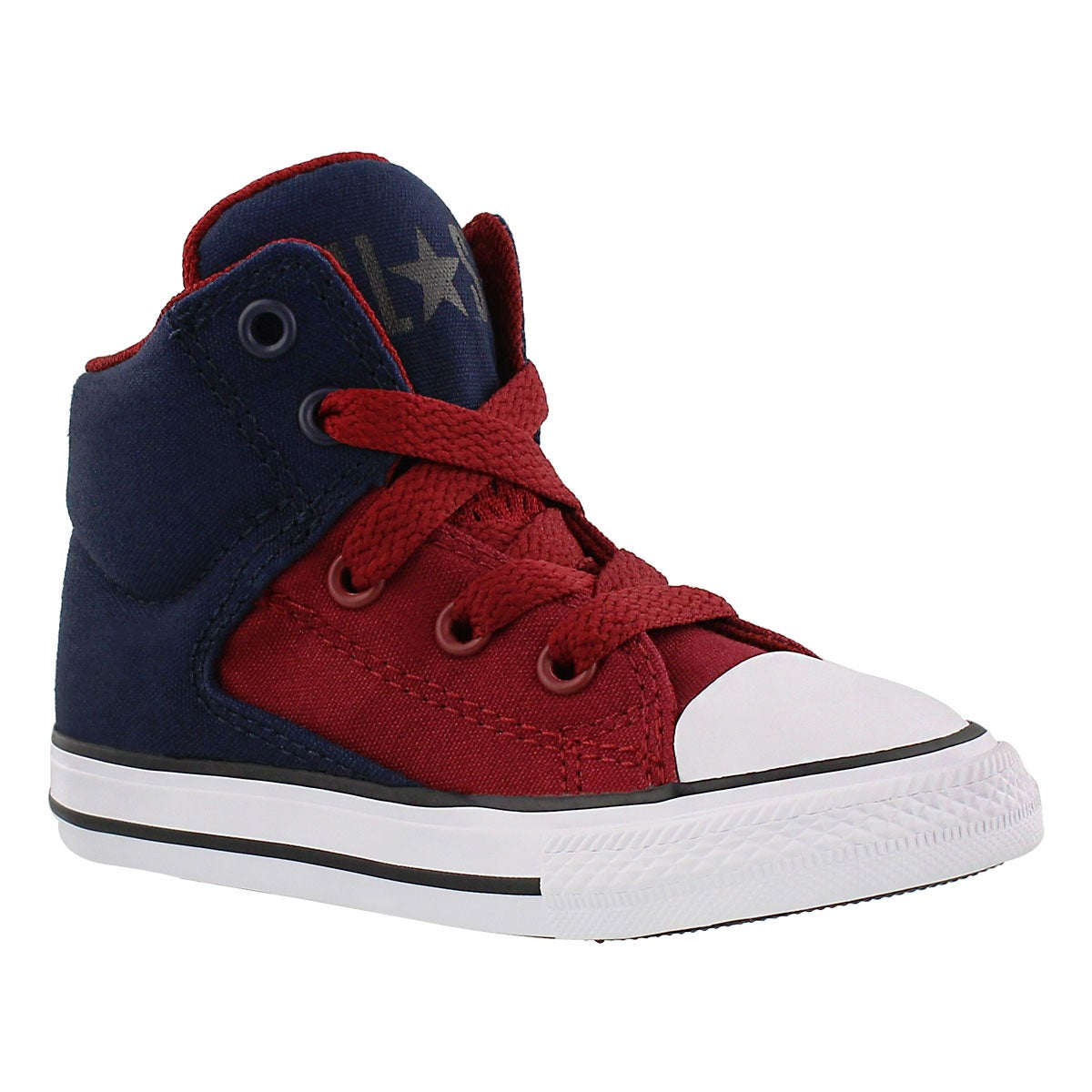 Infants' HIGH STREET HI obsidian/red sneakers