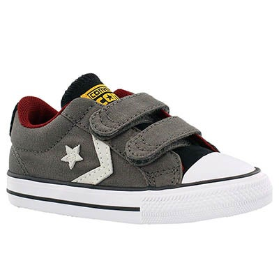 Converse Infants' STAR PLAYER 2V charcoal/wht sneakers