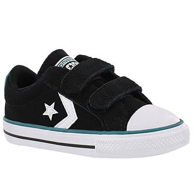 Converse Infants' STAR PLAYER 2V bk/wht/jade sneakers
