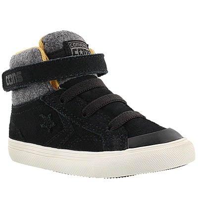 Converse Infants' PRO BLAZE STRAP black hi top sneakers