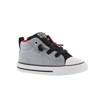 Converse Infants' CTAS STREET blue granite lace up sneakers