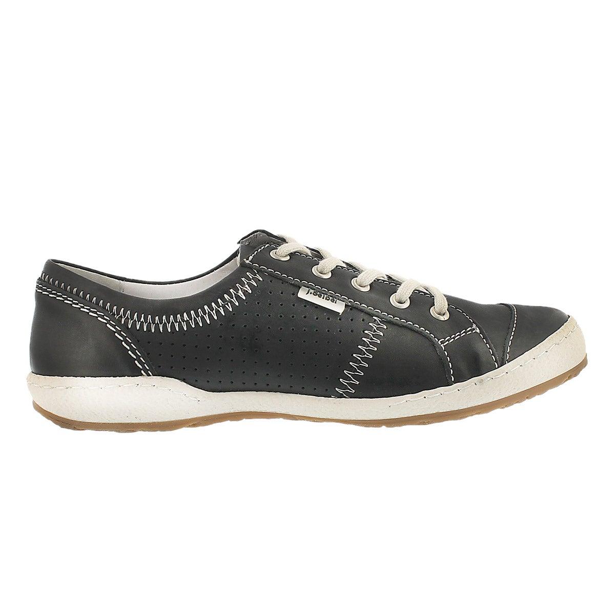 Lds Caspian black lace up shoe