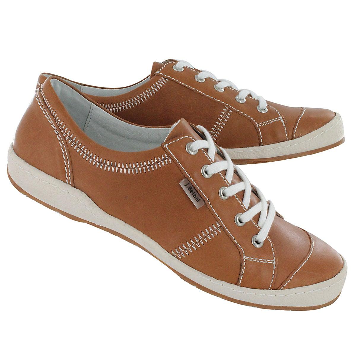Lds New Caspian tan lace shoe