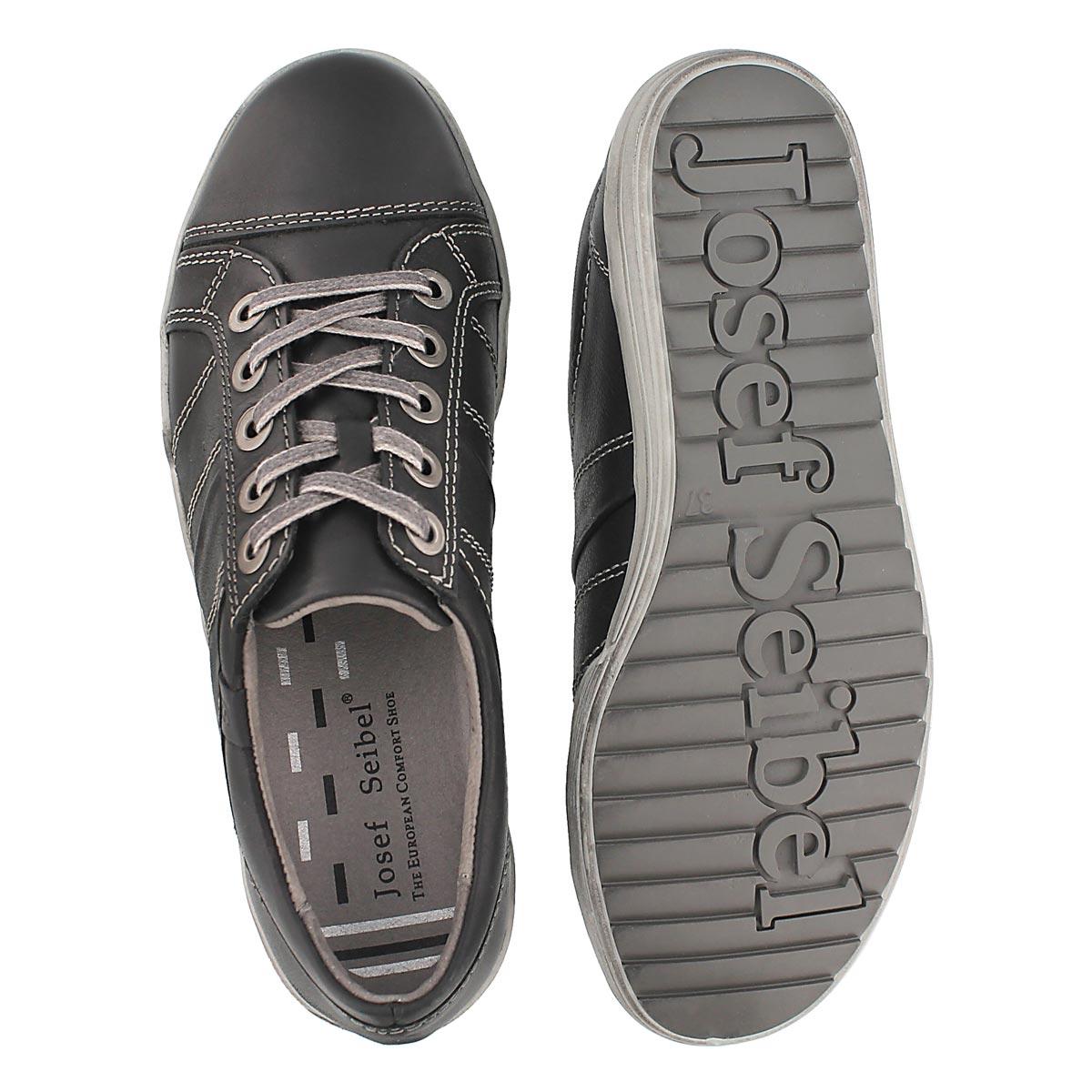Lds Dany 05 blk lthr oxford sneaker