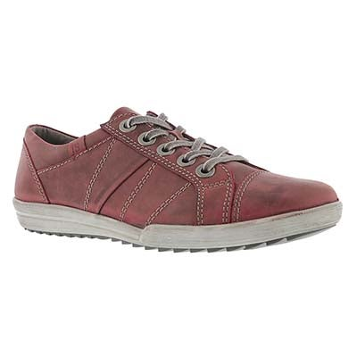 Josef Seibel Women's DANY 05 wine leather oxford sneakers