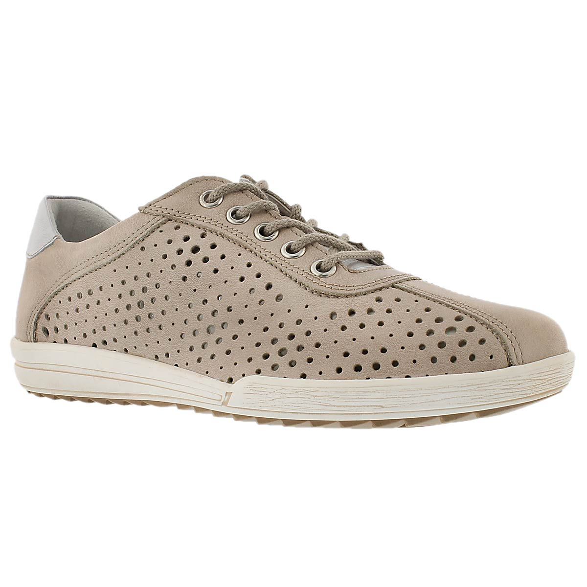 Lds Dany 49 beige perferated sneaker