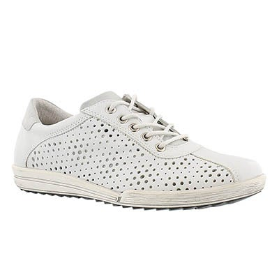 Josef Seibel Women's DANY 49 white perforated sneakers
