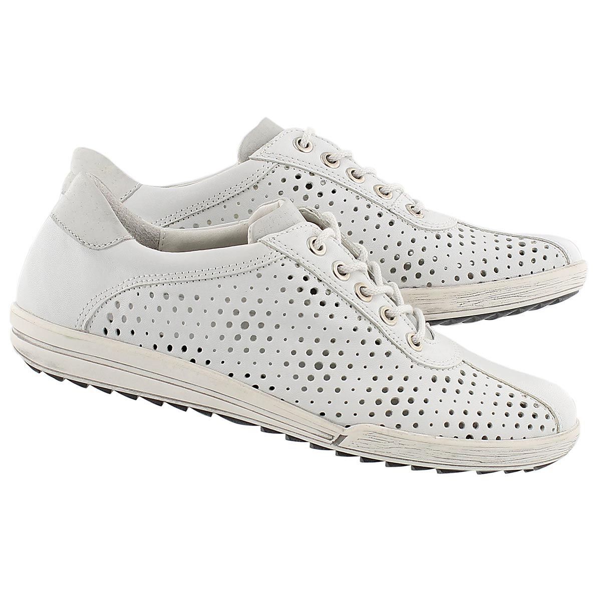 Lds Dany 49 white perforated sneaker