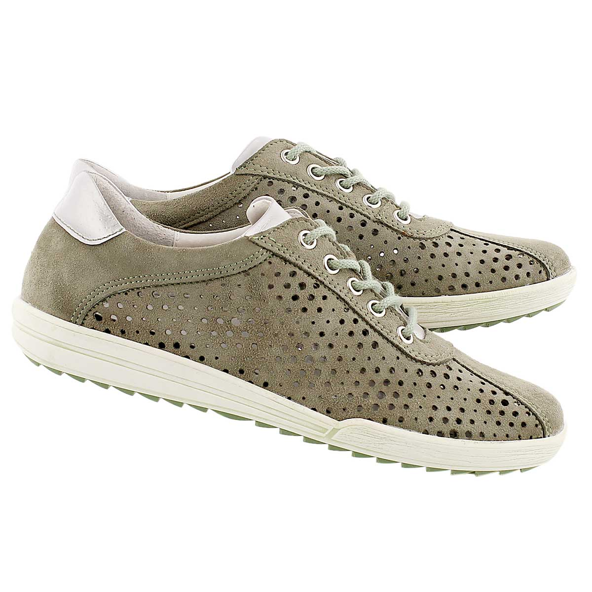 Lds Dany 49 sage perforated sneaker
