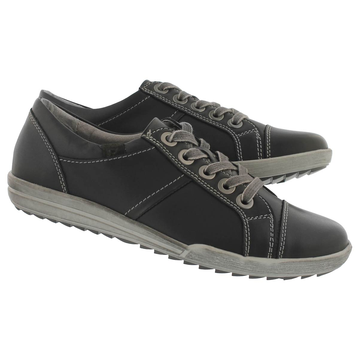 Lds Dany59 schwarz lace up casual snkr